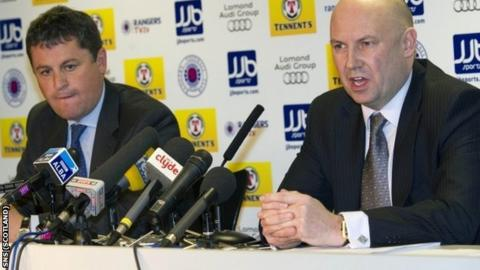Administrators David Whitehouse and Paul Clark are poised to vote with Celtic