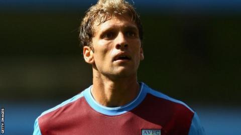 Aston Villa midfielder Stiliyan Petrov