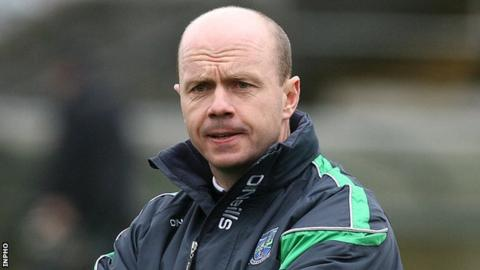 Peter Canavan's side struggled in the first half at Brewster Park