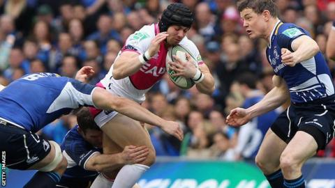 Cardiff Blues suffered a heavy defeat against Leinster in the Heineken Cup