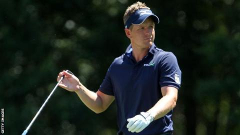Luke Donald at the RBC Heritage in South Carolina