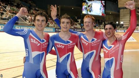 GB Sprint team