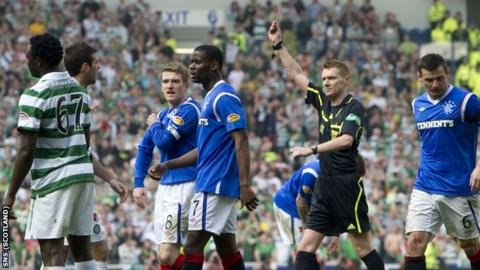 Calum Murray sent off three players in the last Old Firm derby
