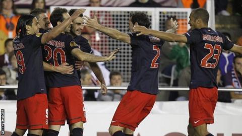 Atletico Madrid celebrate