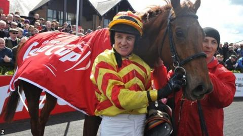 Barry Geraghty with China Rock