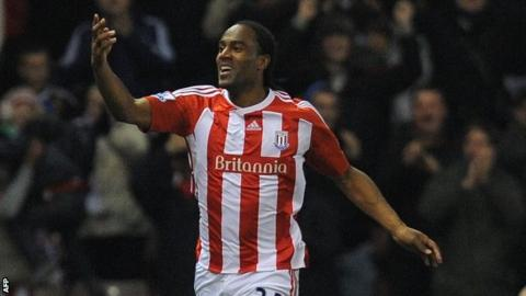 Stoke striker Cameron Jerome