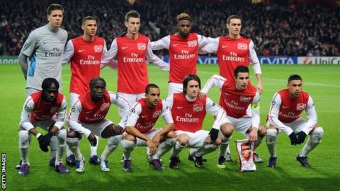 The Arsenal team