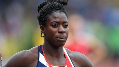 British 400m runner Christine Ohuruogu