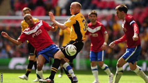 York v Newport in the FA Trophy final