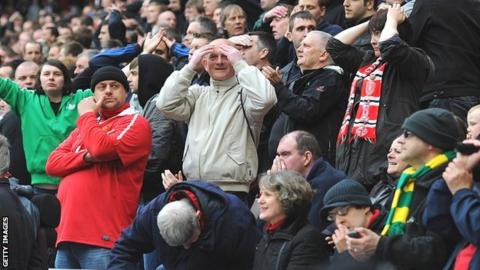 Manchester United fans react to news from Manchester City