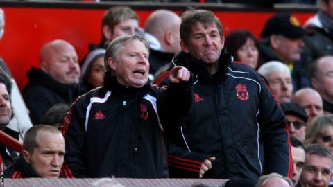 Dalglish and Sammy Lee (left)