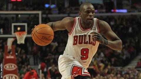 Luol Deng in action for Chicago