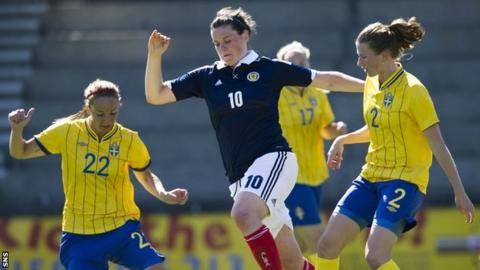 Scotland women were beaten 4-1 by Sweden
