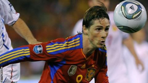 Spain striker Fernando Torres