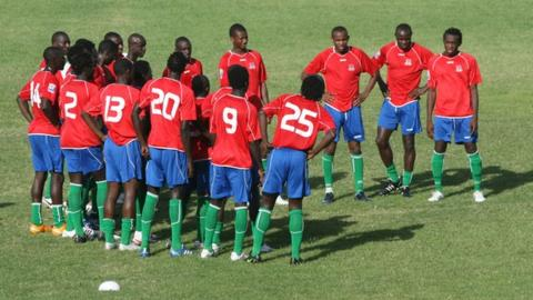 The national football team of The Gambia