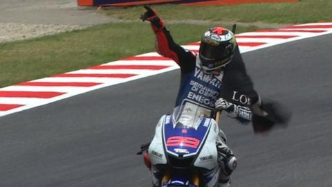 Jorge Lorenzo wins Catalunya MotoGP