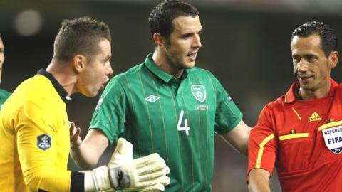 Shay Given and John O'Shea