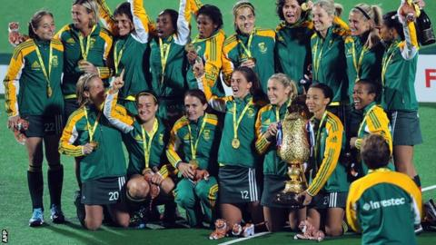 The South Africa women's hockey squad