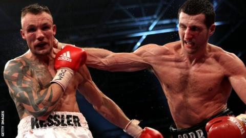 Mikkel Kessler fighting Carl Froch