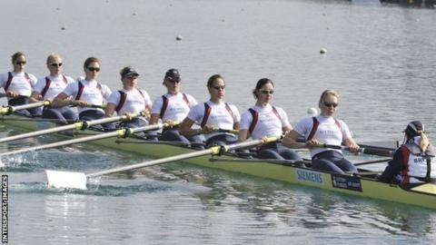 Emily Taylor (fourth from left) in training action