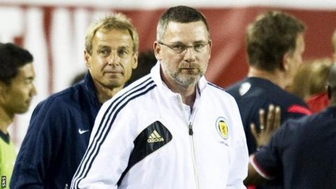 Levein looks glum as his side suffer a 5-0 defeat by the United States