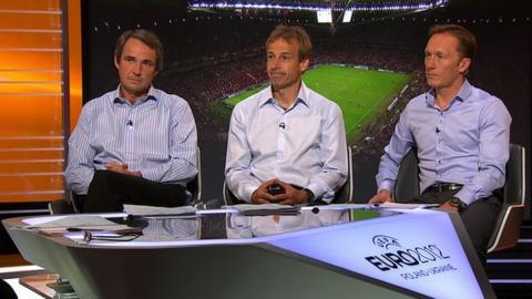 Match of the Day pundits Alan Hansen, Jurgen Klinsmann and Lee Dixon
