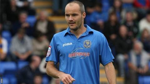 David Raven in action for Shrewsbury