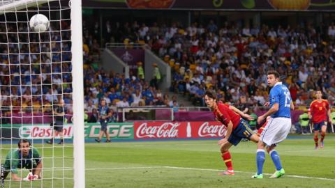 David Silva scores for Spain
