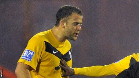 Kyle Perry playing for AFC Telford United