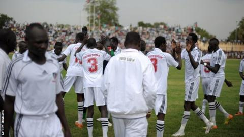 South Sudan footballers