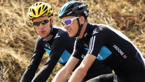Bradley Wiggins (left) and Chris Froome