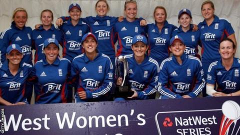 England women celebrate
