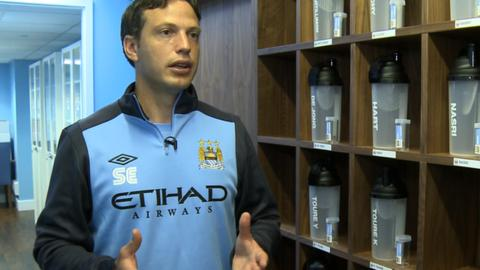 Manchester City's head of sports science Dr Sam Erith