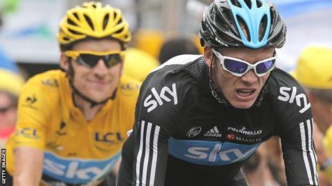 Bradley Wiggins (left) and Chris Froome (right)