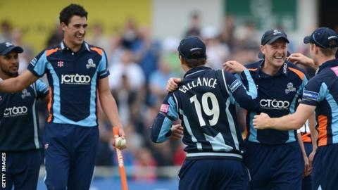 Yorkshire celebrate FL t20 victory