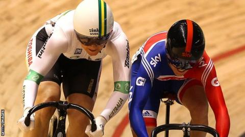 Anna Meares (left) and Victoria Pendleton