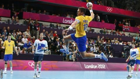 Sweden in action against Team GB