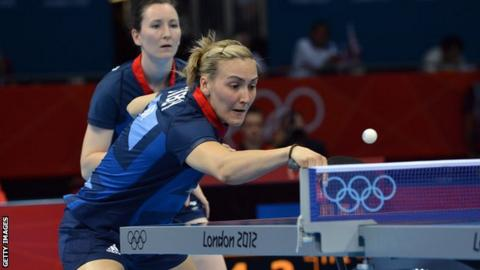Great Britain table tennis players Joanna Parker and Kelly Sibley