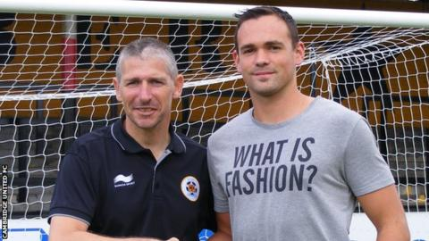 Manager Jez George and Craig Ross