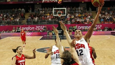 Diana Taurasi targets the basket for the US