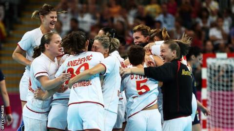 Montenegro's handball women's team