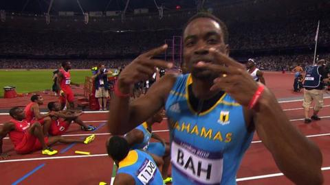 Bahamas win Olympic 4x400m relay gold