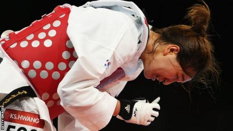South Korea taekwondo champion Hwang Kyung-Seon