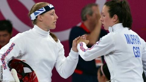 GB modern pentathletes Mhairi Spence and Samantha Murray
