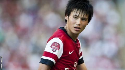 Arsenal midfielder Ryo Miyaichi