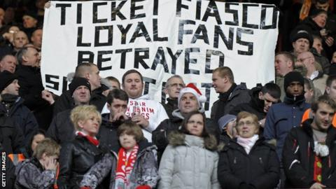 Fans are being turned off by high ticket prices, according to the FSF