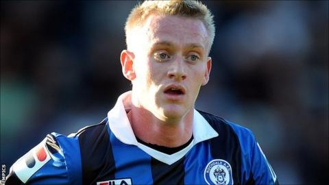 Rochdale striker Ashley Grimes