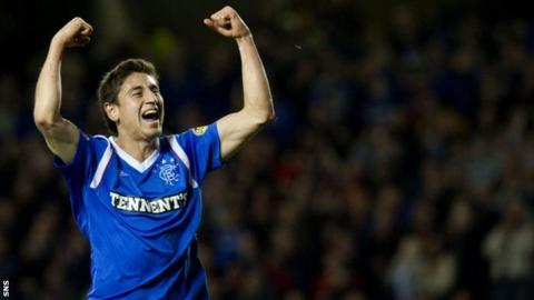Bedoya enjoys a rare moment of personal joy with Rangers last season