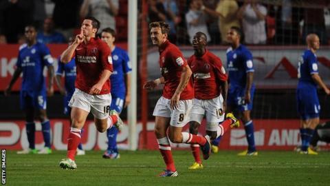 Charlton striker Yang Kermorgant