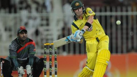 Michael Clarke batting against Afghanistan